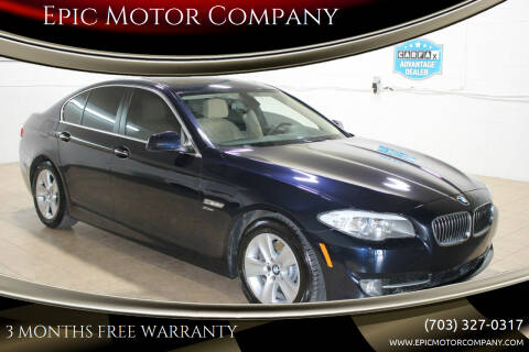 2012 BMW 5 Series for sale at Epic Motor Company in Chantilly VA