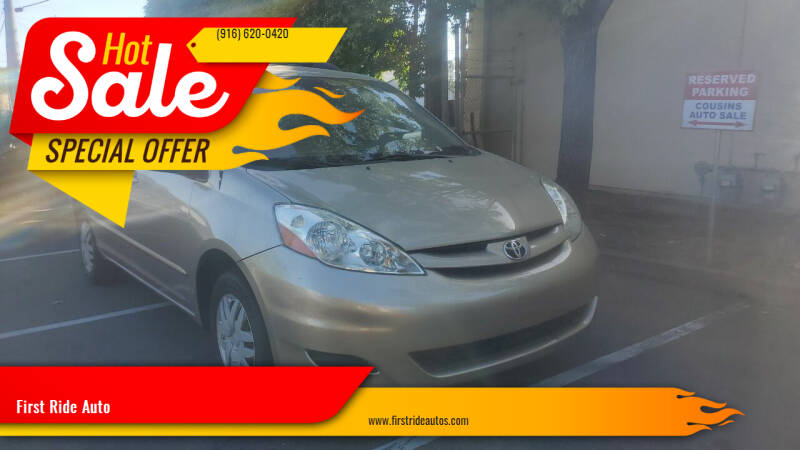 2006 Toyota Sienna for sale at First Ride Auto in Sacramento CA