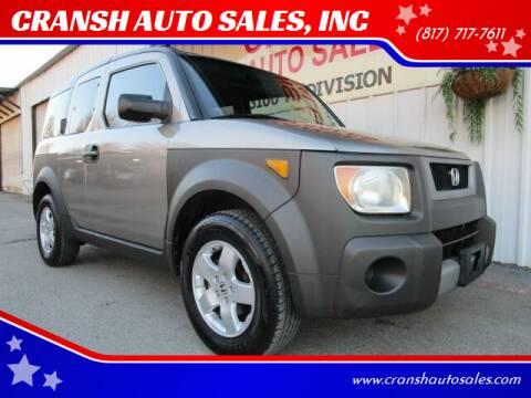 2004 Honda Element for sale at CRANSH AUTO SALES, INC in Arlington TX