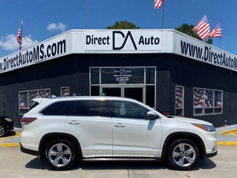 2016 Toyota Highlander for sale at Direct Auto in D'Iberville MS