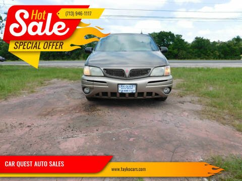 2004 Pontiac Montana for sale at CAR QUEST AUTO SALES in Houston TX