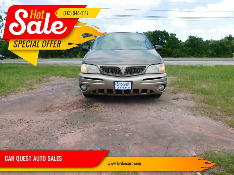 2004 Pontiac Montana for sale in Houston, TX