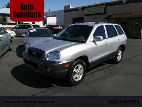 2004 Hyundai Santa Fe for sale at Auto Solutions in Mesa AZ