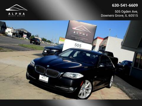 2013 BMW 5 Series for sale at Alpha Luxury Motors in Downers Grove IL