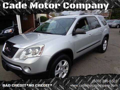 2010 GMC Acadia for sale at Cade Motor Company in Lawrenceville NJ