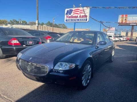 2007 Maserati Quattroporte for sale at Nations Auto Inc. II in Denver CO