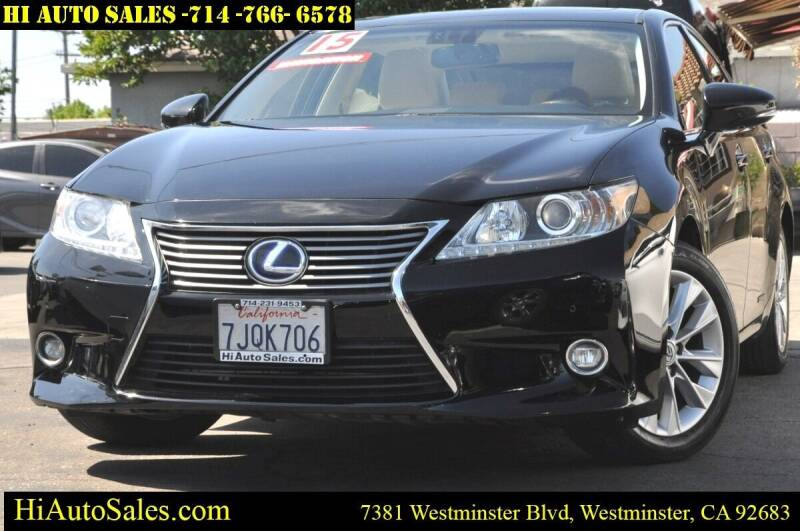 2015 Lexus ES 300h for sale at Hi Auto Sales in Westminster CA