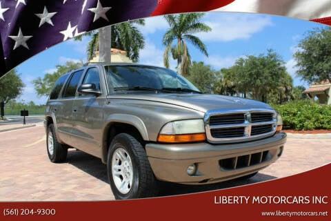 2003 Dodge Durango for sale at LIBERTY MOTORCARS INC in Royal Palm Beach FL