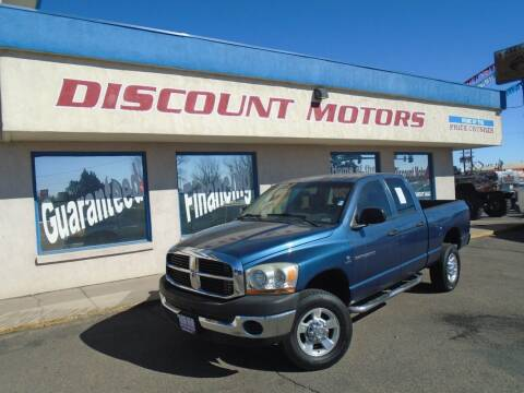 2006 Dodge Ram Pickup 2500 for sale at Discount Motors in Pueblo CO