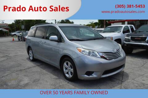 2015 Toyota Sienna for sale at Prado Auto Sales in Miami FL