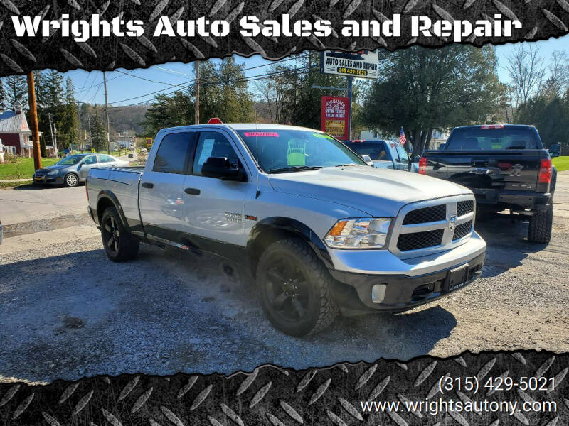 2016 RAM Ram Pickup 1500 for sale at Wrights Auto Sales and Repair in Dolgeville NY