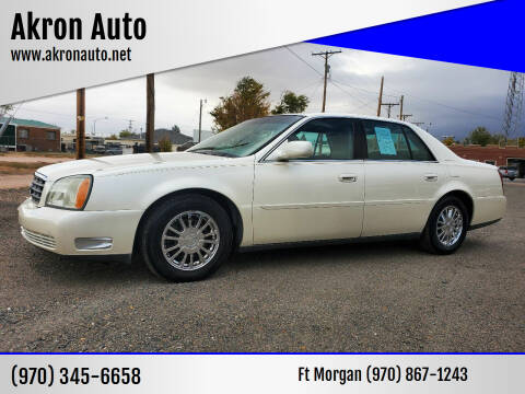 2003 Cadillac DeVille for sale at Akron Auto in Akron CO