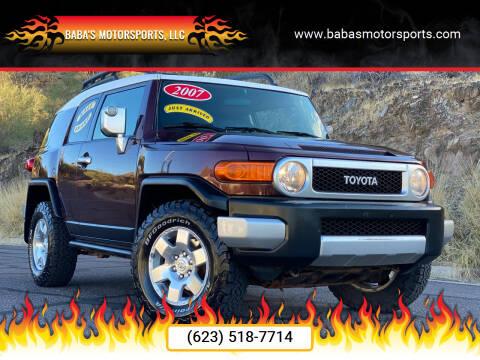 2007 Toyota FJ Cruiser for sale at Baba's Motorsports, LLC in Phoenix AZ