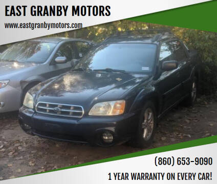 2003 Subaru Baja for sale at EAST GRANBY MOTORS in East Granby CT