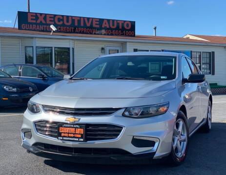 2016 Chevrolet Malibu for sale at Executive Auto in Winchester VA