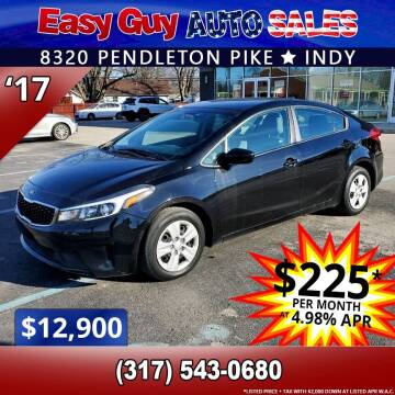 2017 Kia Forte for sale at Easy Guy Auto Sales in Indianapolis IN