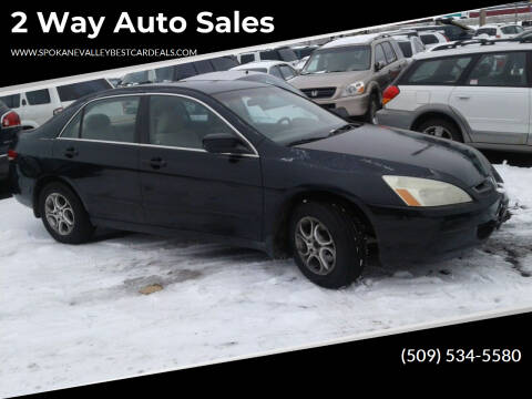 2003 Honda Accord for sale at 2 Way Auto Sales in Spokane Valley WA