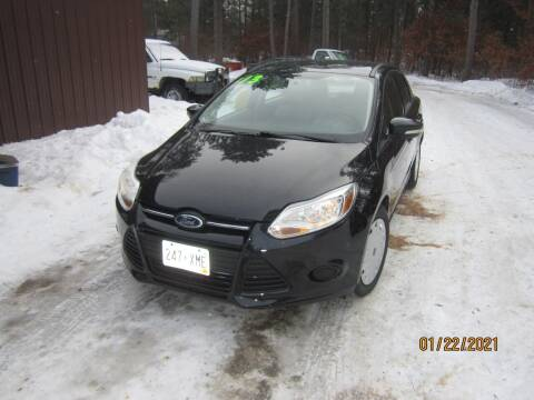 2013 Ford Focus for sale at SUNNYBROOK USED CARS in Menahga MN