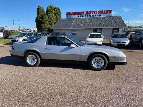 1988 Chevrolet Camaro for sale at BLAESER AUTO LLC in Chippewa Falls WI