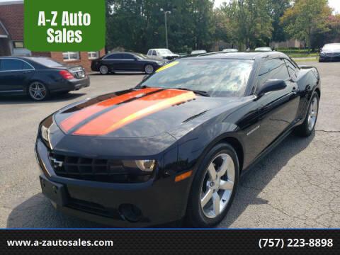 2011 Chevrolet Camaro for sale at A-Z Auto Sales in Newport News VA