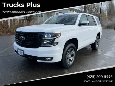 2016 Chevrolet Tahoe for sale at Trucks Plus in Seattle WA