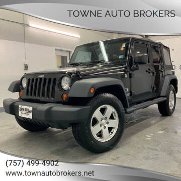 2008 Jeep Wrangler Unlimited for sale at TOWNE AUTO BROKERS in Virginia Beach VA