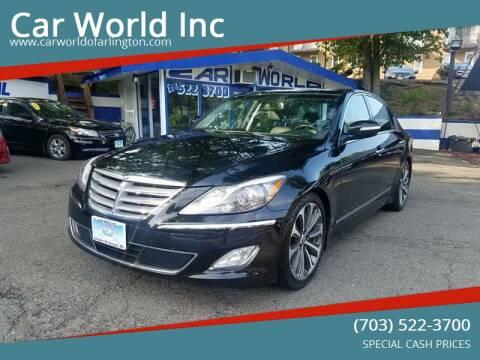 2013 Hyundai Genesis for sale at Car World Inc in Arlington VA