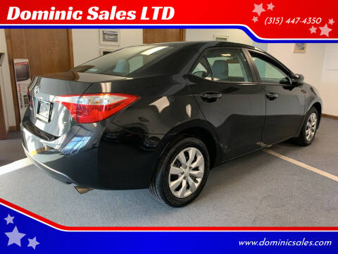 2015 Toyota Corolla for sale at Dominic Sales LTD in Syracuse NY
