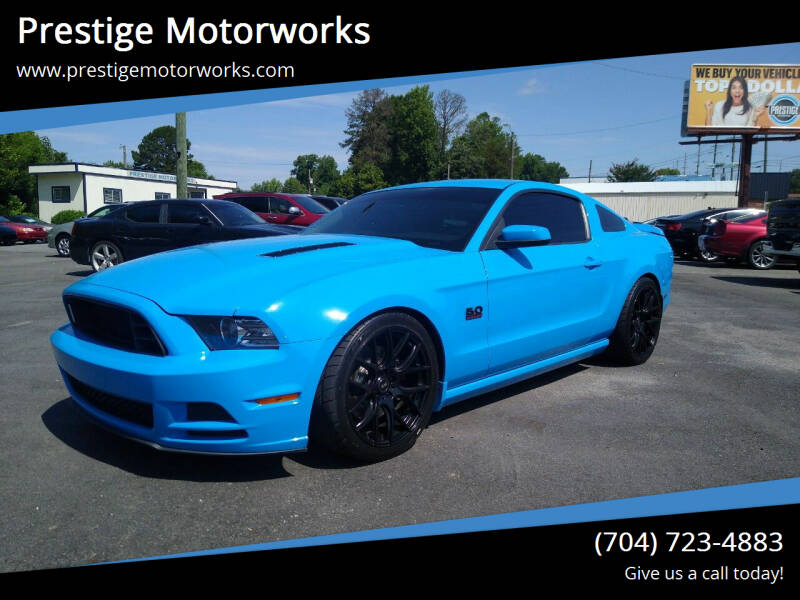 2013 Ford Mustang for sale at Prestige Motorworks in Concord NC