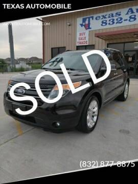 2013 Ford Explorer for sale at TEXAS AUTOMOBILE in Houston TX