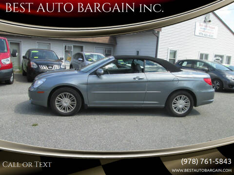 2008 Chrysler Sebring for sale at BEST AUTO BARGAIN inc. in Lowell MA