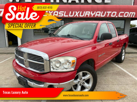 2007 Dodge Ram Pickup 1500 for sale at Texas Luxury Auto in Cedar Hill TX