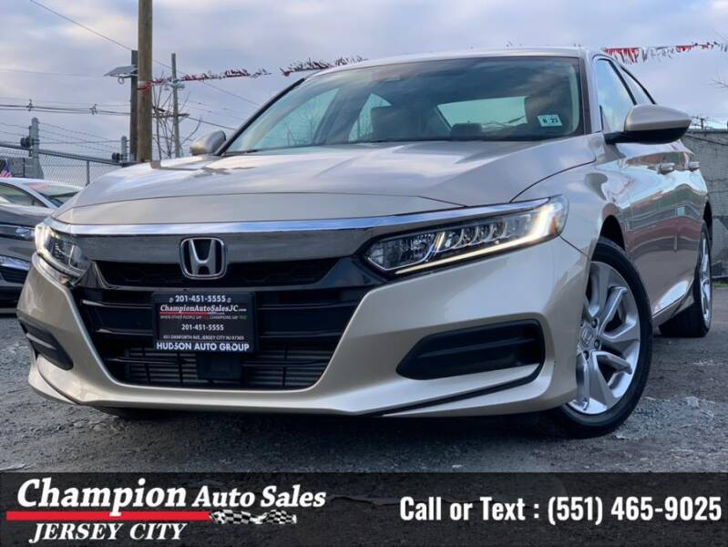 2018 Honda Accord for sale at CHAMPION AUTO SALES OF JERSEY CITY in Jersey City NJ