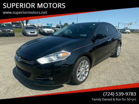 2014 Dodge Dart for sale at SUPERIOR MOTORS in Latrobe PA