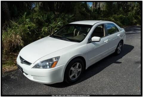2005 Honda Accord for sale at Sarasota Car Sales in Sarasota FL