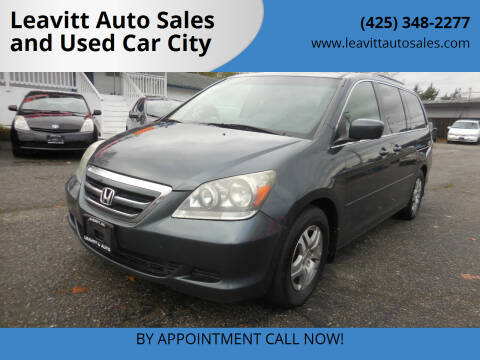 2005 Honda Odyssey for sale at Leavitt Auto Sales and Used Car City in Everett WA