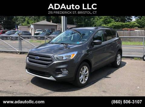 2018 Ford Escape for sale at ADAuto LLC in Bristol CT