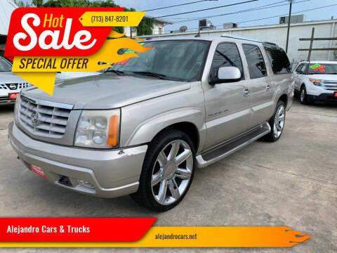 2005 Cadillac Escalade ESV for sale at Alejandro Cars & Trucks in Houston TX