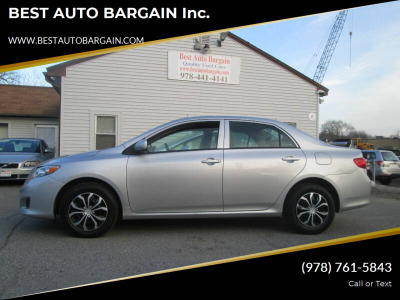 2010 Toyota Corolla for sale at BEST AUTO BARGAIN inc. in Lowell MA