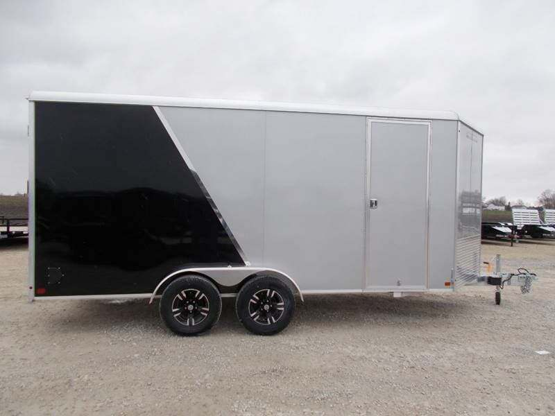 2021 Aluma 7X16 Enclosed Aluminum Trailer