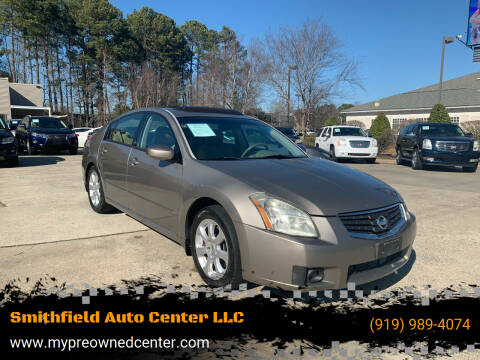 2007 Nissan Maxima for sale at Smithfield Auto Center LLC in Smithfield NC
