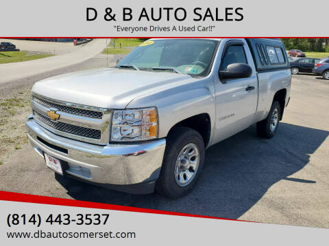 2012 Chevrolet Silverado 1500 for sale at D & B AUTO SALES in Somerset PA