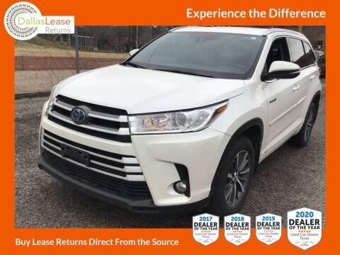 2018 Toyota Highlander Hybrid for sale at Dallas Auto Finance in Dallas TX
