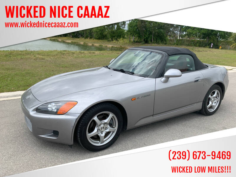 2001 Honda S2000 for sale at WICKED NICE CAAAZ in Cape Coral FL