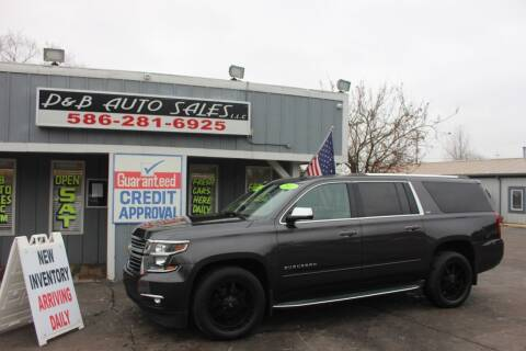 2015 Chevrolet Suburban for sale at D & B Auto Sales LLC in Washington Township MI