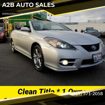 2007 Toyota Camry Solara for sale at A2B AUTO SALES in Chula Vista CA