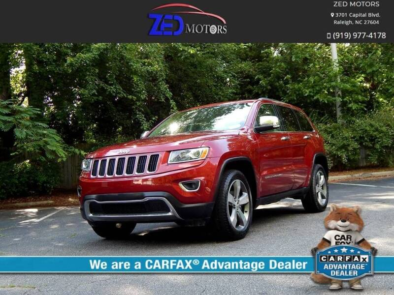 2015 Jeep Grand Cherokee for sale at Zed Motors in Raleigh NC