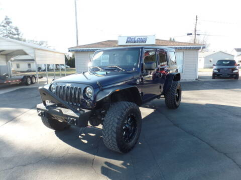 2013 Jeep Wrangler Unlimited for sale at DeLong Auto Group in Tipton IN