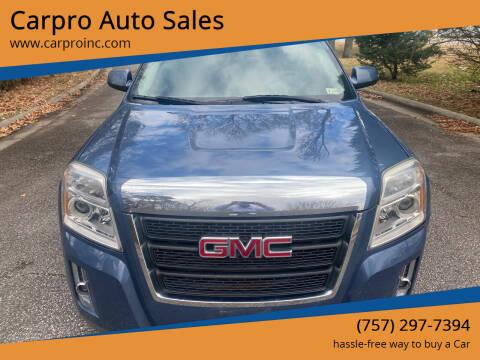 2011 GMC Terrain for sale at Carpro Auto Sales in Chesapeake VA