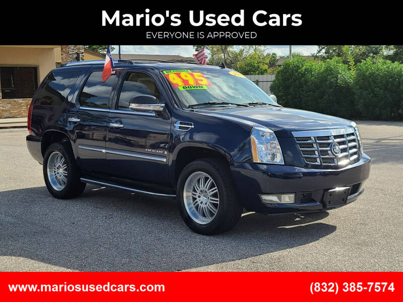 2007 Cadillac Escalade for sale at Mario's Used Cars - Pasadena Location in Pasadena TX